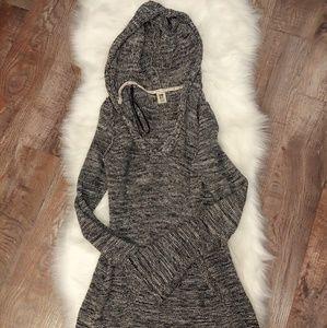 Roxy Black & White Hooded Cotton Sweater